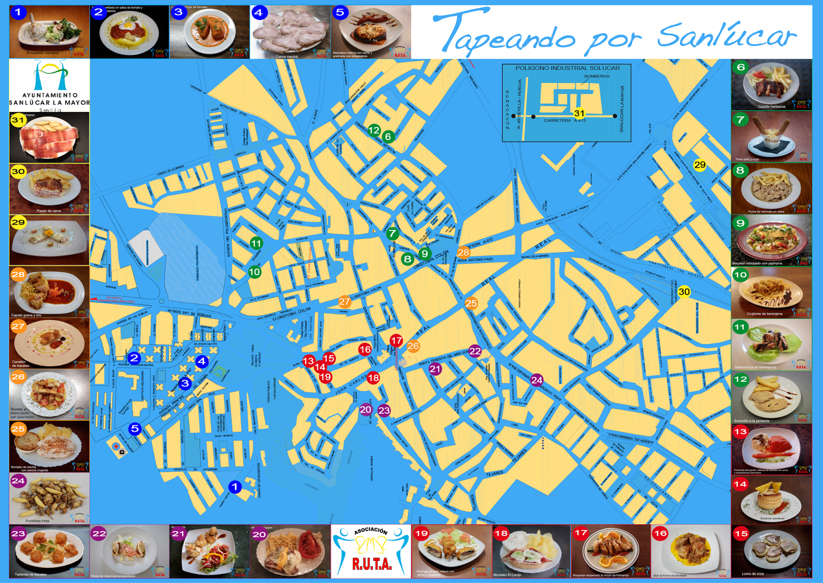Mapa Tapeando por Sanlúcar 2014