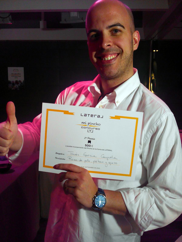 ganador tercer premio concurso pinchos restaurante lateral