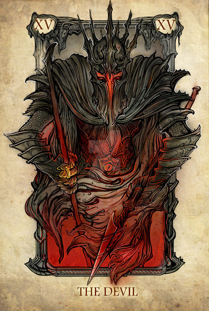 Senhor dos anéis em cartas de tarô - O mal