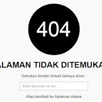Cara membuat Halaman Error 404