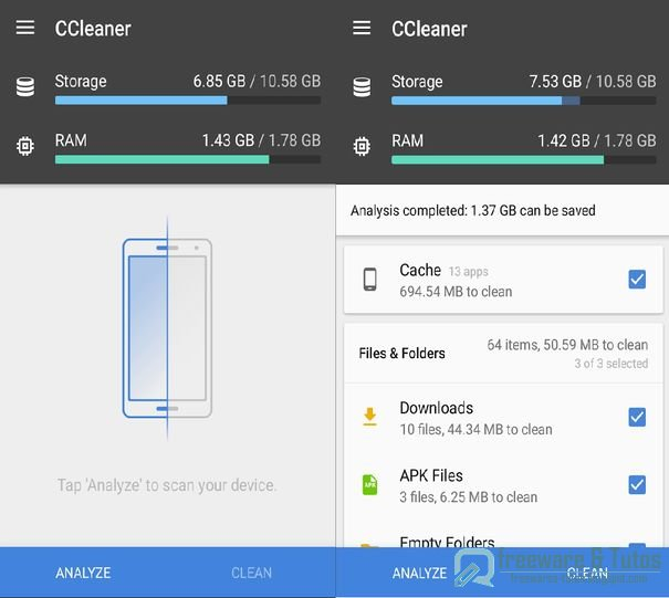 CCleaner : une application légère pour nettoyer son Android