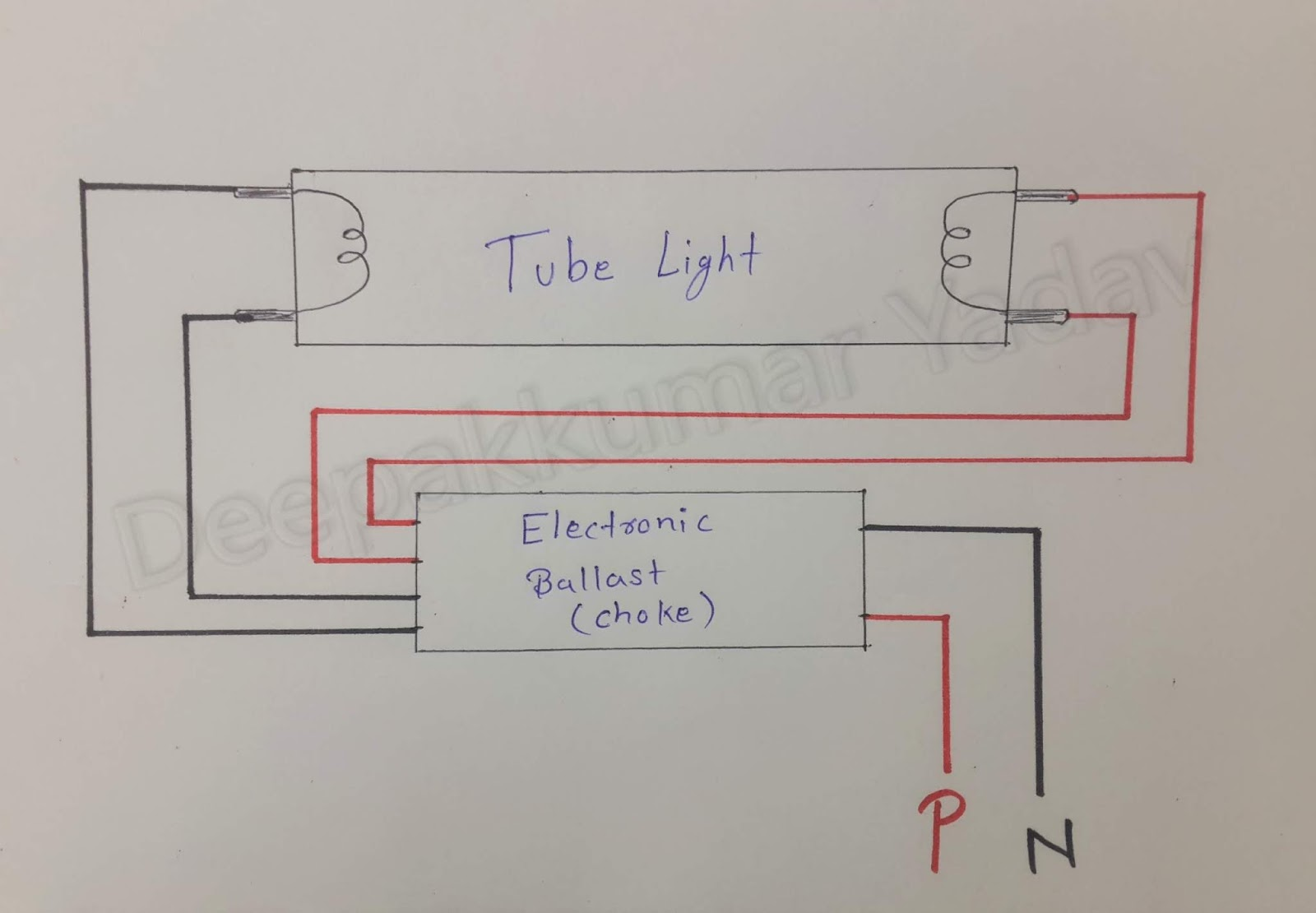 Tube Light Wiring Connection with Diagram (Electrical ...