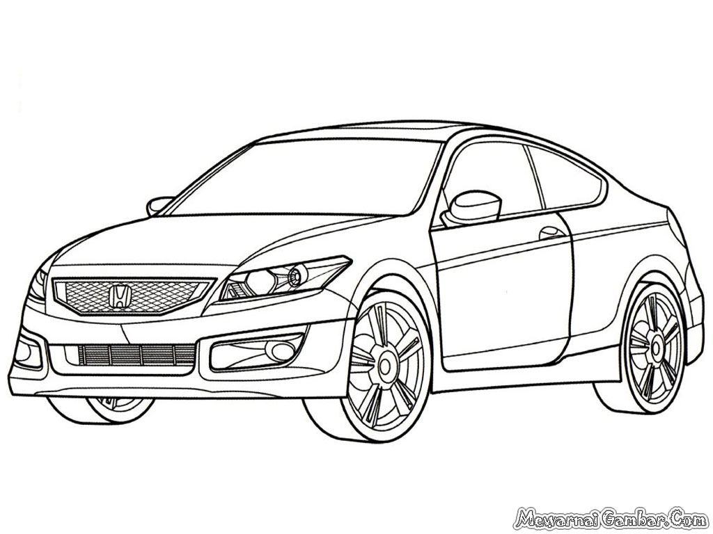 Honda Civic Coloring Pages Coloring Pages