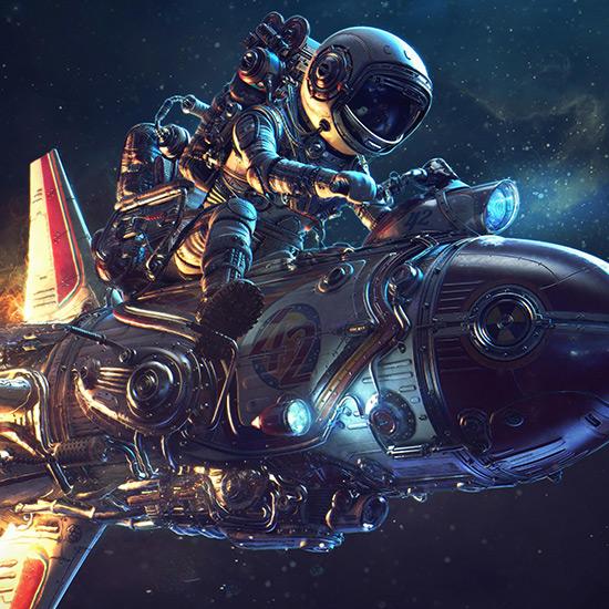 Rocket Ride Wallpaper Engine
