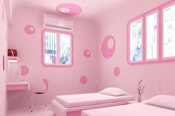 Hogares frescos 100 dise os de habitaciones para ni as - Habitacion de bebe nina ...