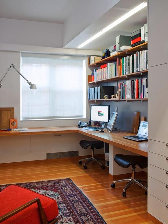 Hogares frescos 40 ideas para dise ar tu oficina en casa for Ideas oficina