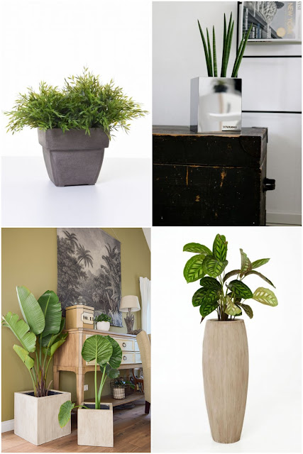 Deko fürs Wohnzimmer mit Übertöpfen von VIVANNO. Dekoideen, Deko, Dekoration, Interior, Blumenkübel, Blumentopf