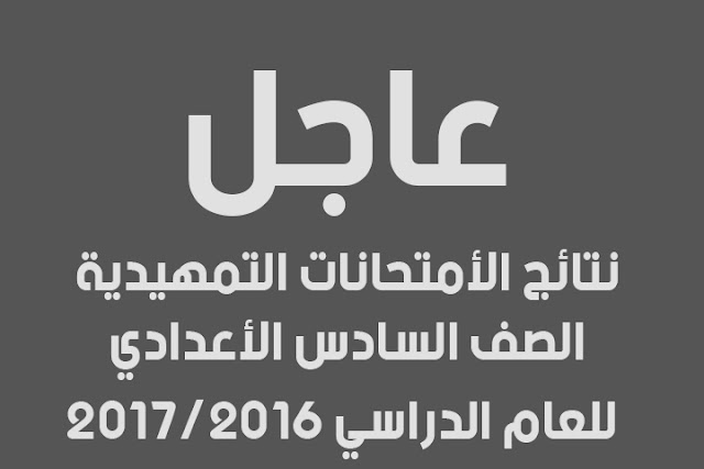 النتائج التمهيدية للصف السادس الأعدادي محافظة بغداد الرصافة الأولى 2017