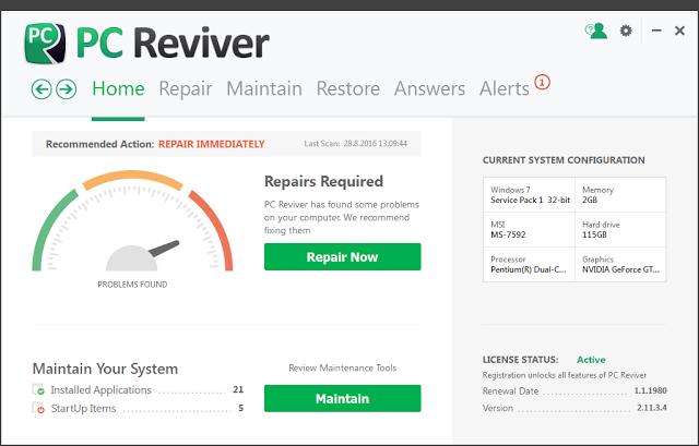 ReviverSoft PC Reviver 2.14.0.20 License Key