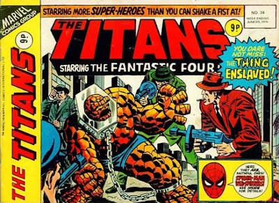 Marvel UK, The Titans #34, the Thing vs the Skrulls