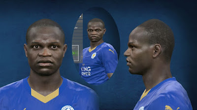 PES 2016 N'Golo Kanté (Leicester City) Face by Steet Facemaker