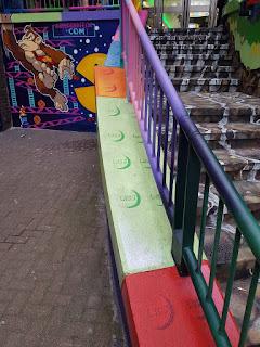 Retro videogame graffiti at The Mall Luton