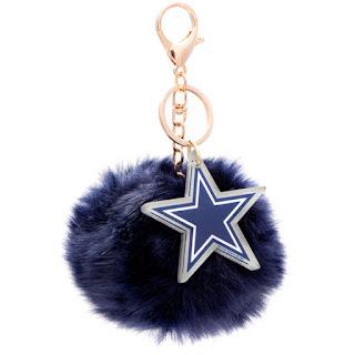 faux fur pom keychain