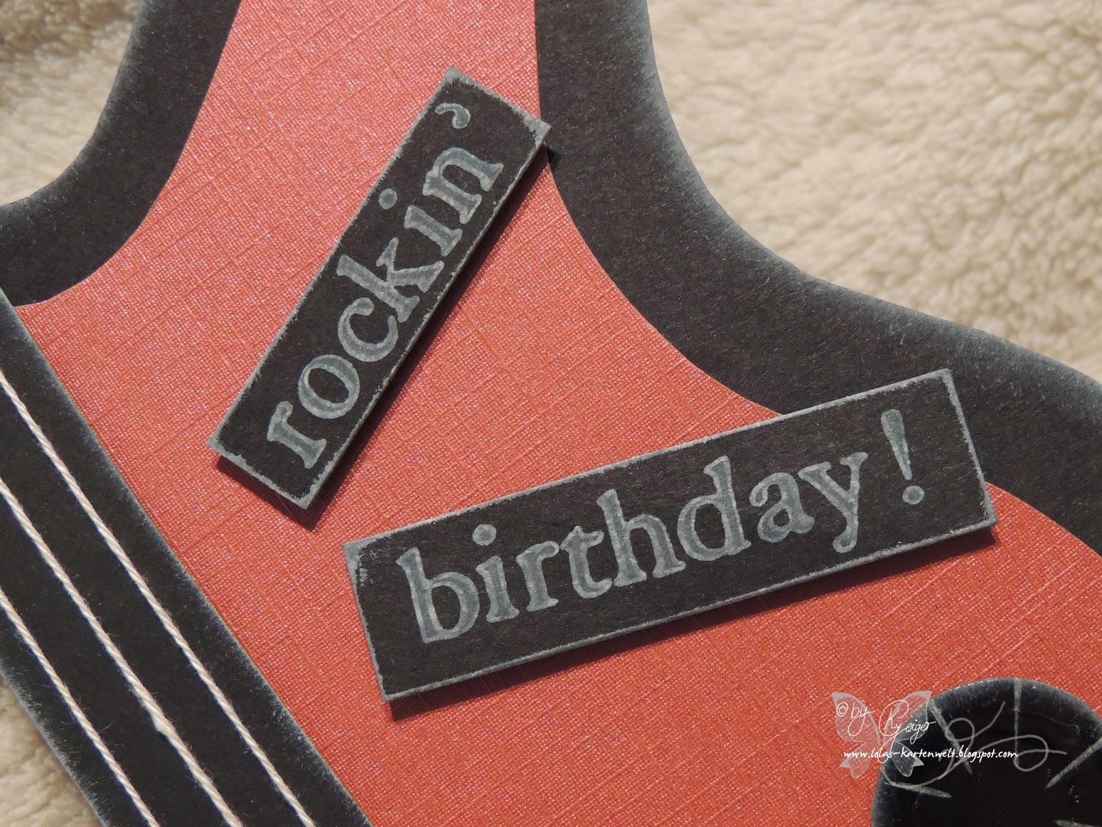 Lolas Kartenwelt Rockiger Geburtstag