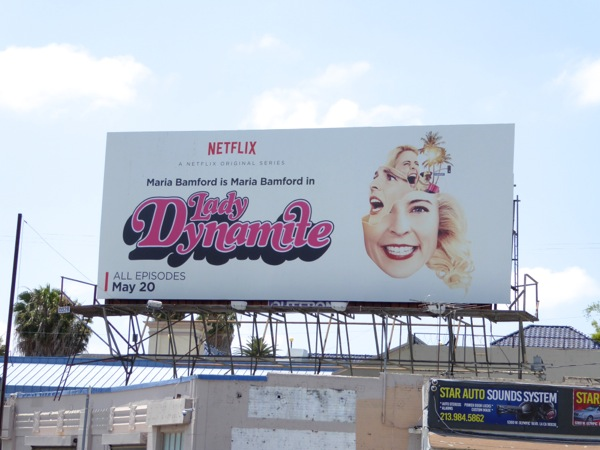 Lady Dynamite series premiere billboard