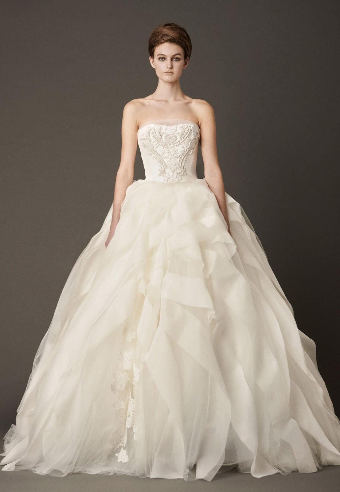 Wide+Edge+Ruffl... Vera Wang Wedding Dresses