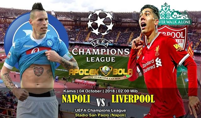 Prediksi Napoli Vs Liverpool 4 Oktober 2018