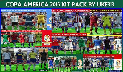 PES 2013 COPA AMERICA 2016 KIT PACK