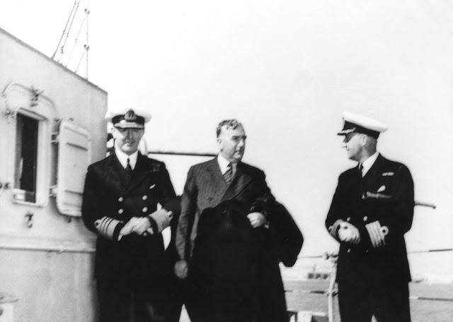 7 February 1941 worldwartwo.filminspector.com Robert Menzies Admiral Andrew Cunningham HMS Warspite