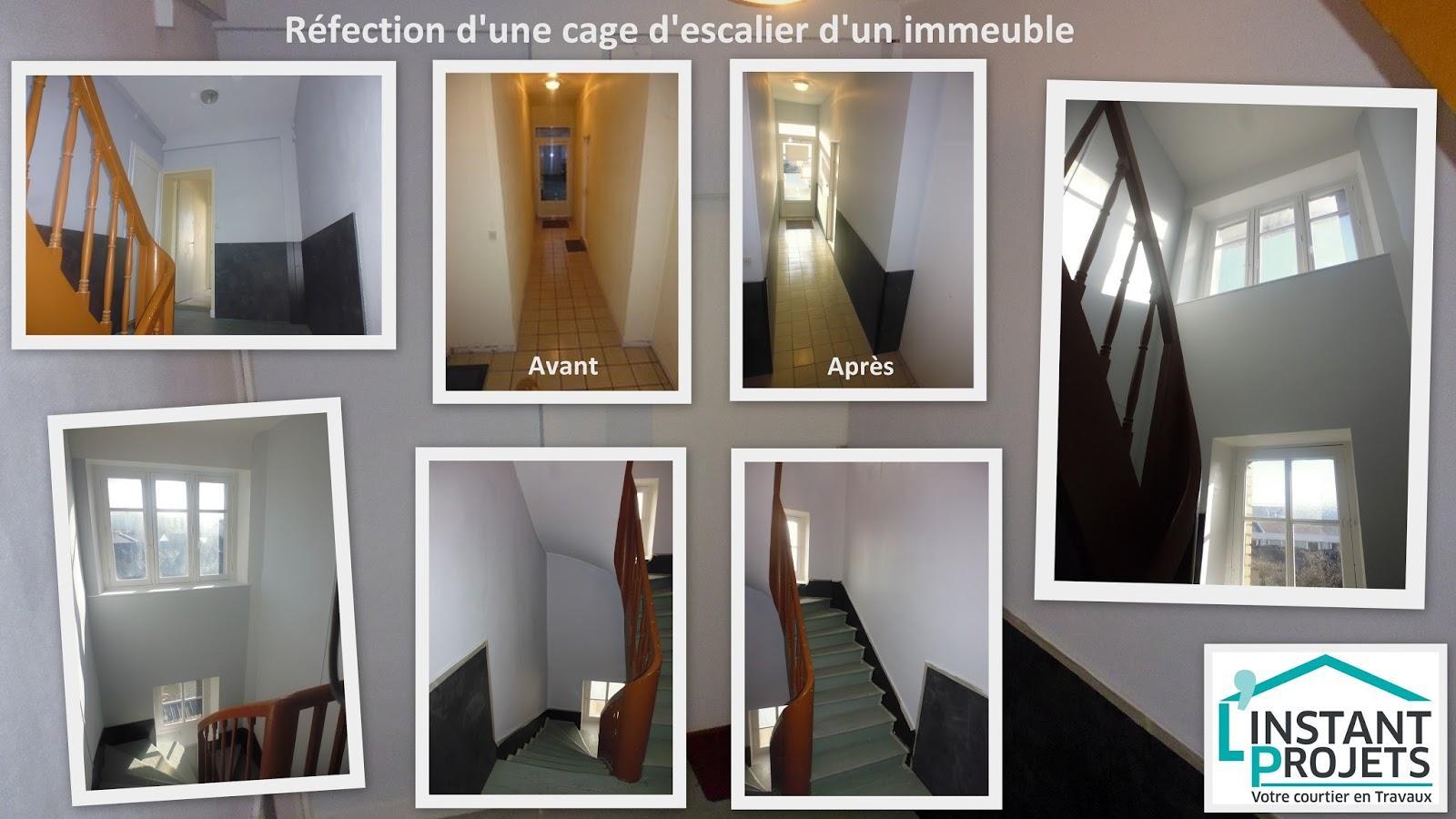 r fection d 39 une cage d 39 escalier d 39 un immeuble saint. Black Bedroom Furniture Sets. Home Design Ideas