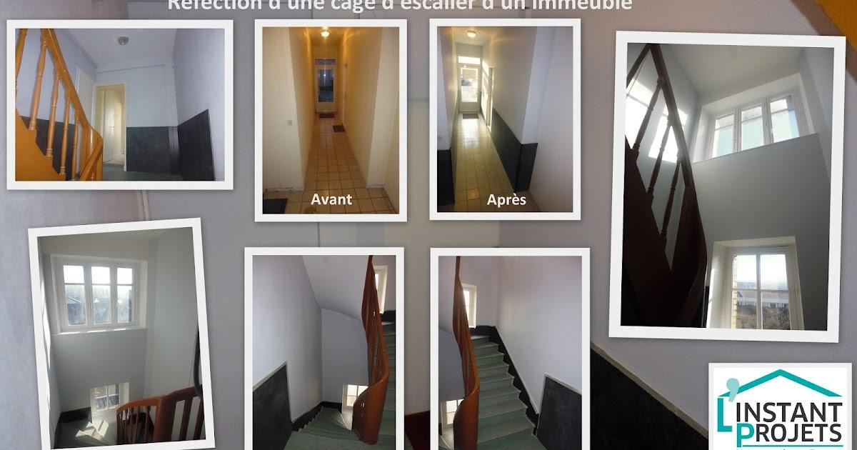 r fection d 39 une cage d 39 escalier d 39 un immeuble saint nazaire l 39 instant projets. Black Bedroom Furniture Sets. Home Design Ideas
