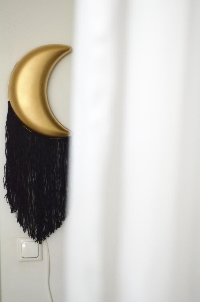 make it boho diy ikea s smila mane mond lampe goes boho glam. Black Bedroom Furniture Sets. Home Design Ideas