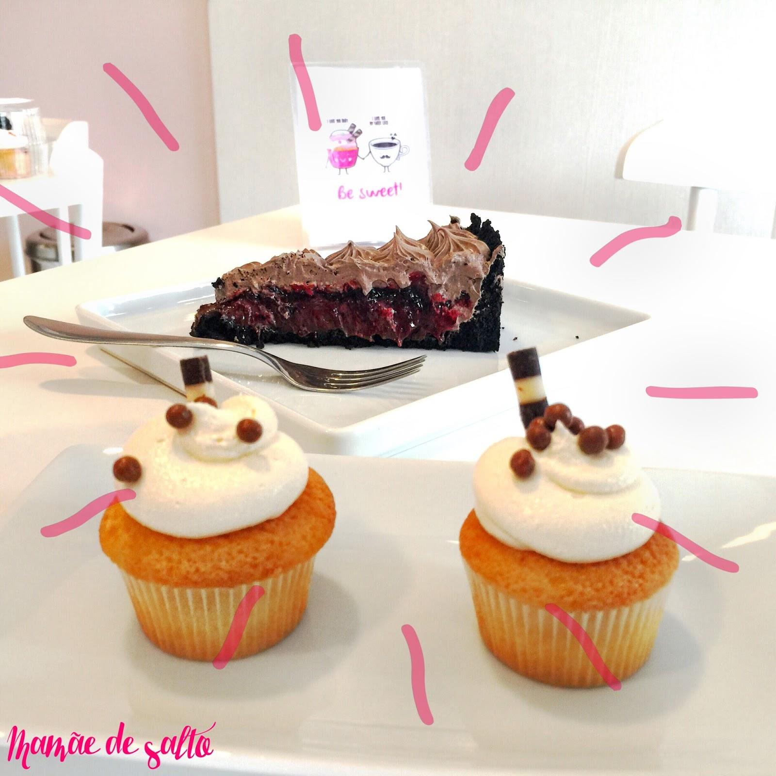 torta oreo com frutas vermelhas e cupcake chocolate branco Sugar Bakery Curitiba/PR ... blog Mamãe de Salto