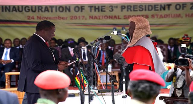 Mnangagwa Sworn In As New Zimbabwe  President