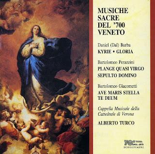 DAL BARBA, D.  PERAZZINI, B.  GIACOMETTI, B. - Musiche Sacre del '700 Veneto
