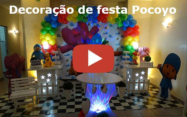Vídeo decoração de aniversário Pocoyo