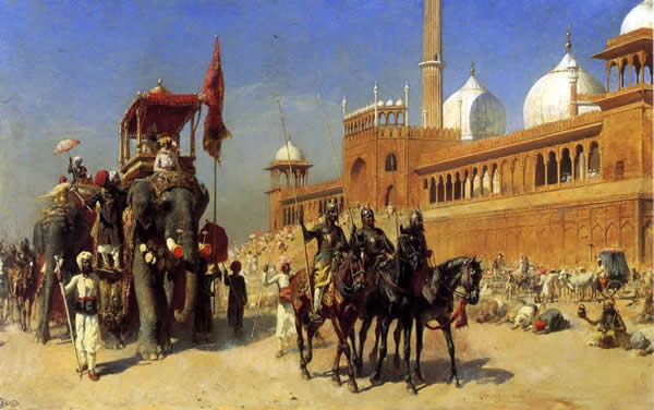 Great Moghul and his court in Delhi