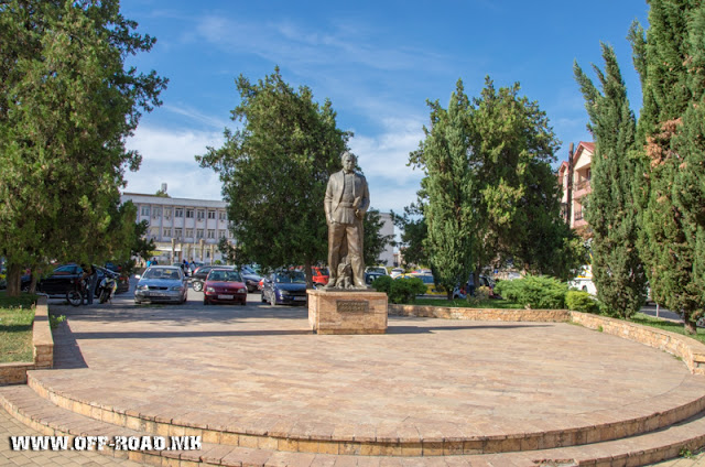Koco Racin Monument - Veles city - Macedonia