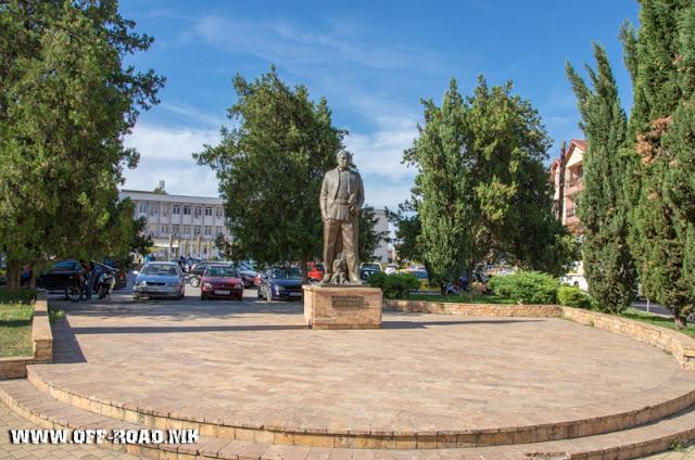 Koco Racin Monument - Veles city - Macedonia