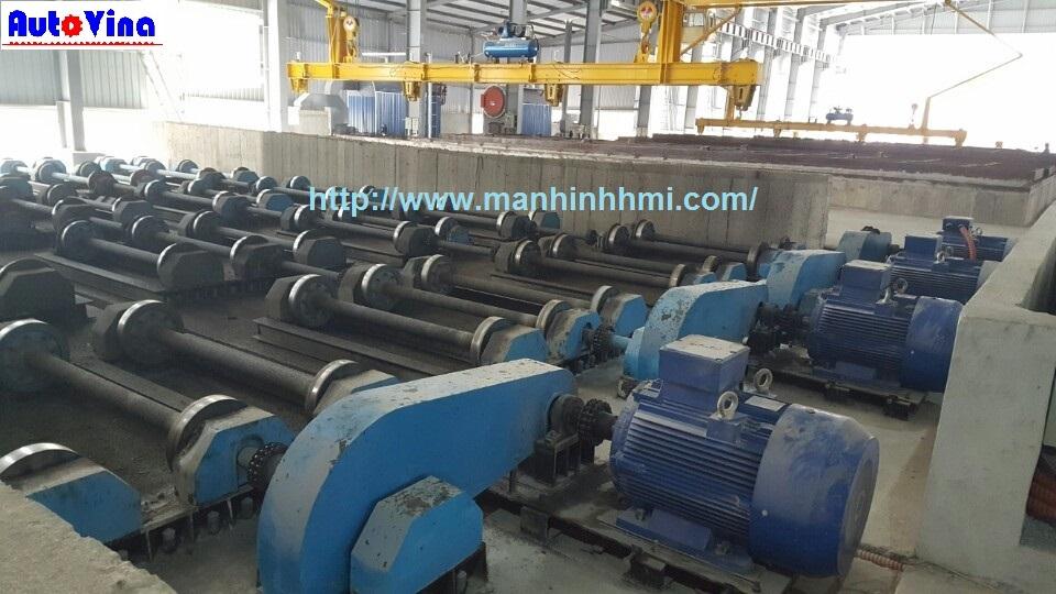 Động cơ điện - Motor 3P dùng trong dàn quay ly tâm tại xưởng sản xuất cọc bê tông