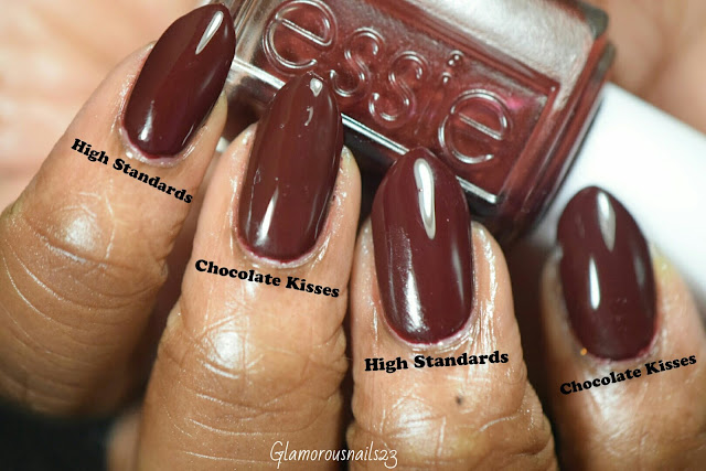 Madam Glam High Standards VS. Essie Chocolate Kisses