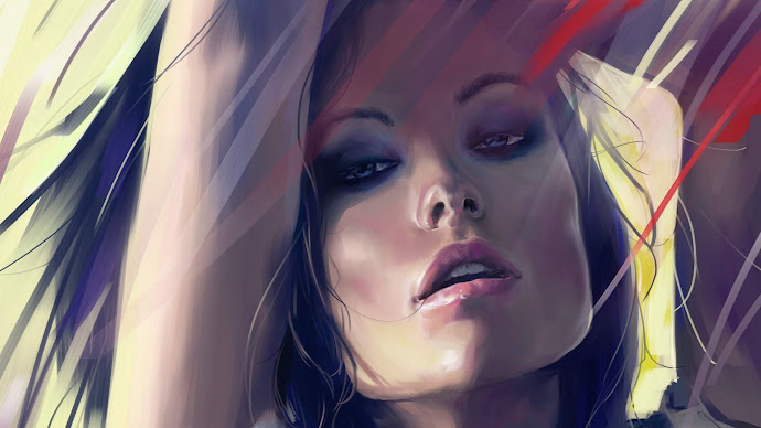 Wallpaper: Olivia Wilde painting