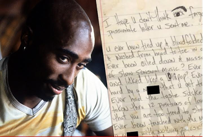 Tupac's racy love letter to be sold for $25k (Photo)