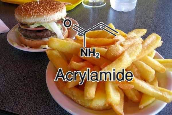 Acrylamide  in french fries, acrylamide in foods, acrylamide in potato chips, acrylamide in French fries, acrylamide in fried foods, acrylamide in frozen chips, acrylamide in fried chicken