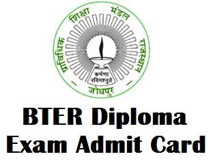 BTER Jodhpur Admit Card 2017