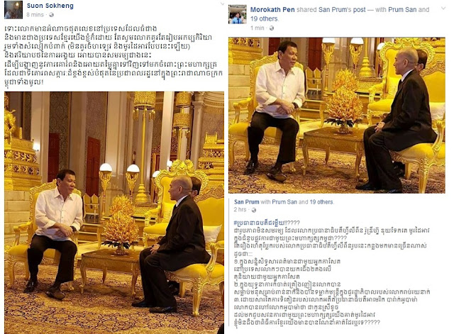 Cambodian Netizens Call Out Duterte's Rude And Disrespectful Manner Upon Meeting With King