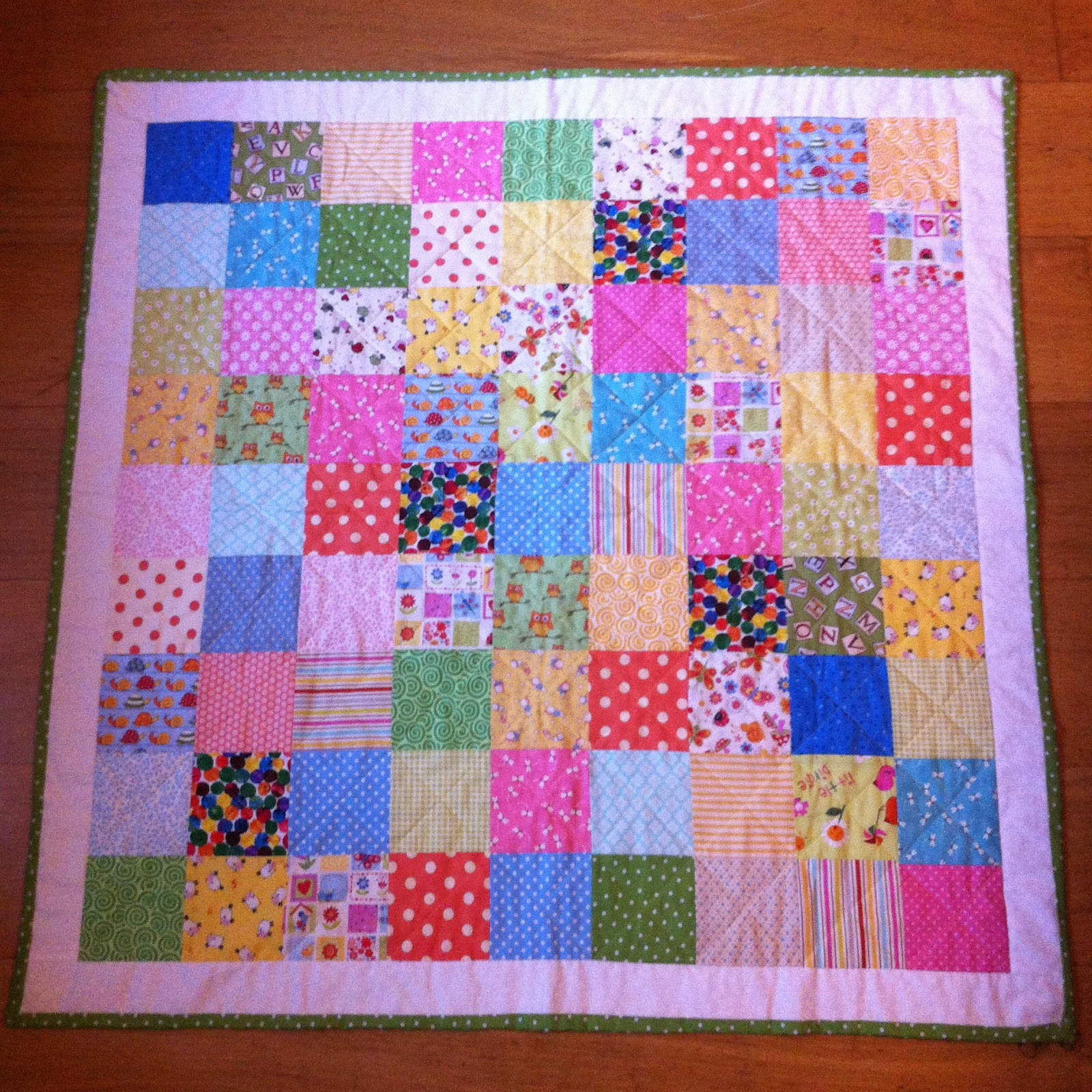 Photo Patchwork The Pink Button Tree: How To Make A Patchwork Quilt