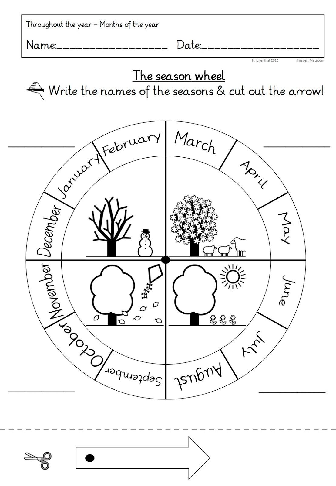 Throughout The Year Jahreszeiten Usw In Einer Englisch Immersiven