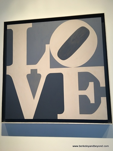 LOVE in shades of gray by Robert Indiana at McNay Art Museum in San Antonio, Texas