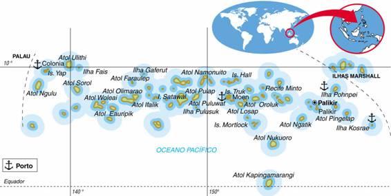 MICRONÉSIA, ASPECTOS GEOGRÁFICOS E SOCIOECONÔMICOS DA MICRONÉSIA