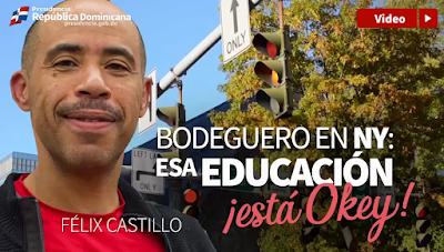 """Vídeo: Bodeguero en NY: """"Esa educación está okey"""""""