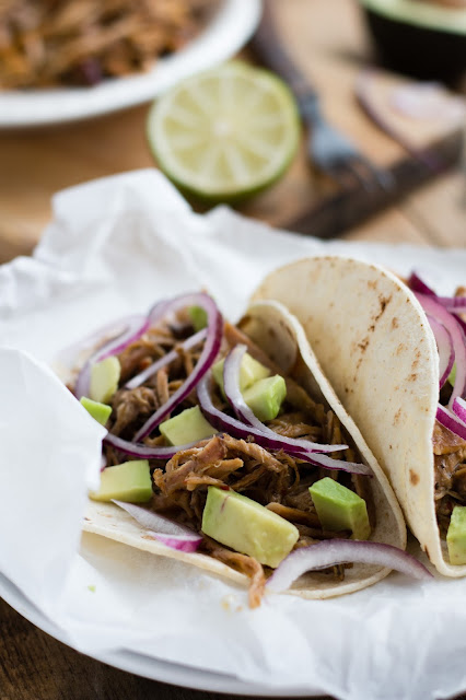 Pulled pork mexicain (carnitas) et tacos