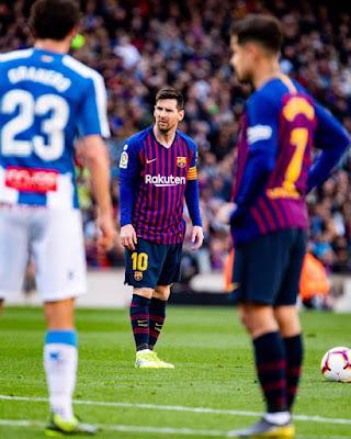 Barcelona vence o Espanyol por 2 a 0 pelo Campeonato Espanhol - Rodada 29