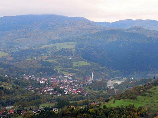 Widok na Krościenko nad Dunajcem.