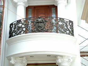 Railing, Balkon, Mewah, Besi Tempa, Klasik,