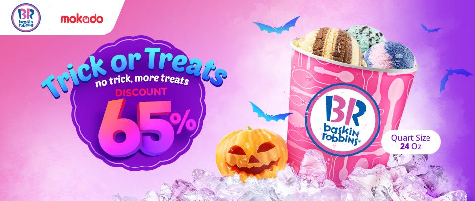 Elevenia - Promo Trick Or Treats Diskon 65% Baskin Ronnins Pakai Mokado